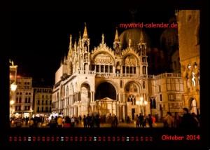Kalender Venedig 2014 Oktober