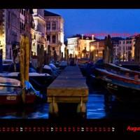 Kalender Venedig 2014 August