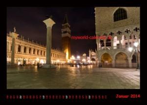 Kalender Venedig 2014 Januar