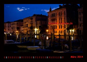 Kalender Venedig 2014 Maerz