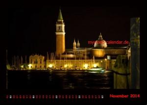 Kalender Venedig 2014 November