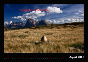 Kalender Dolomiten 2014 August