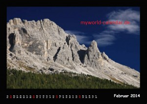 Kalender Dolomiten 2014 Februar