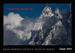 Kalender Dolomiten 2014 Januar