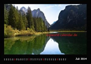 Kalender Dolomiten 2014 Juli