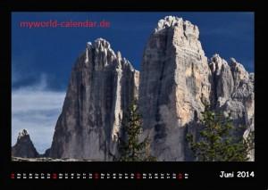 Kalender Dolomiten 2014 Juni