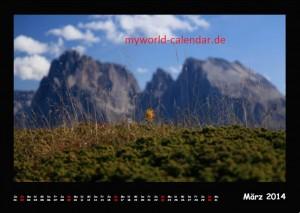 Kalender Dolomiten 2014 Maerz