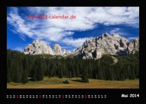 Kalender Dolomiten 2014 Mai