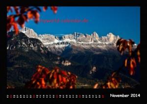 Kalender Dolomiten 2014 November