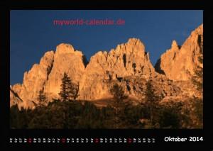 Kalender Dolomiten 2014 Oktober