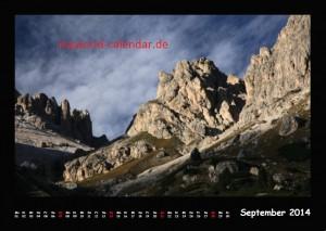 Kalender Dolomiten 2014 September