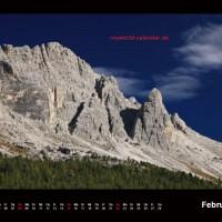Kalender Dolomiten 2015 Februar