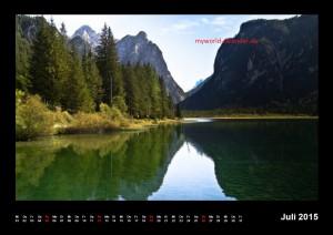 Kalender Dolomiten 2015 Juli