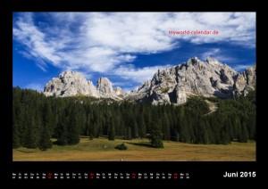 Kalender Dolomiten 2015 Juni