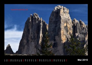 Kalender Dolomiten 2015 Mai