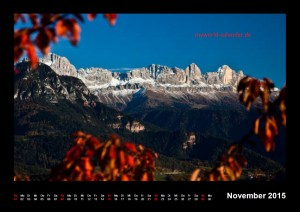 Kalender Dolomiten 2015 November