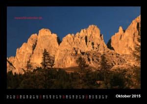Kalender Dolomiten 2015 Oktober
