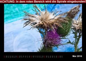 Kalender fleurs & art 2016 Mai